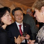 Ambassador Hwang and Mrs Shil Rhee with Pamela Morris