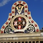 Coat of arms on the first Blackfriars Railway Bridge