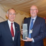 Chairman Warwick Morris with prize winner Edward Moynihan