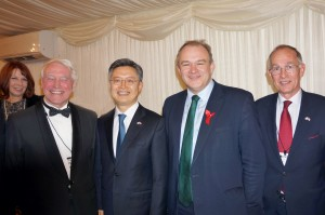 BKS Joint Presidents, Sir Stephen Brown and Ambassador Joon kook Hwang, with Sir Edward Davey MP and BKS Chairman Warwick Morris