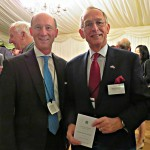 Diageo representative Richard Grenfell-Hill with Warwick Morris