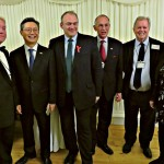 Sir Stephen Brown, Ambassador Hwang, Sir Edward Davey MP, Warwick Morris and Committee members Mark Baumfield and Sylvia Park-Timmons