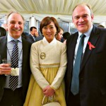 David Saunders, Justina Jang and Sir Edward Davey MP