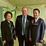 Sylvia Park-Timmons, Sir Edward Davey MP and artist Yoojin Kim