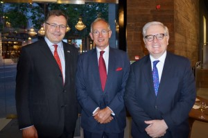 Ambassador Charles Hay, Chairman Warwick Morris and Ambassador Michael Gifford